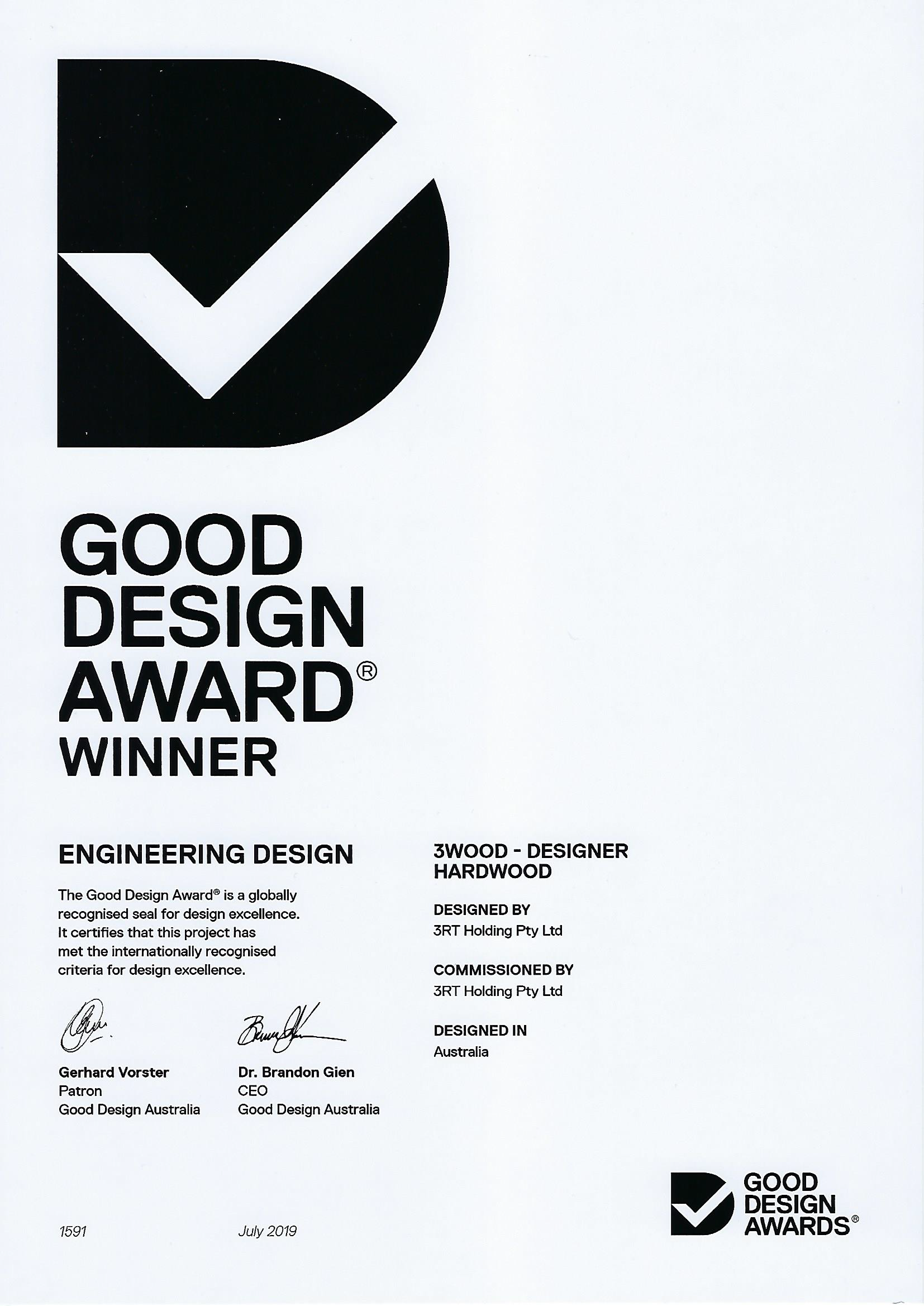 3RT - Good Design Awards 2019 - Engineering Design